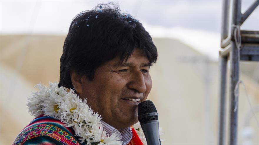El presidente de Bolivia, Evo Morales, en un acto público en Llallagua, Potosí, 15 de diciembre de 2018. (Foto: ABI)