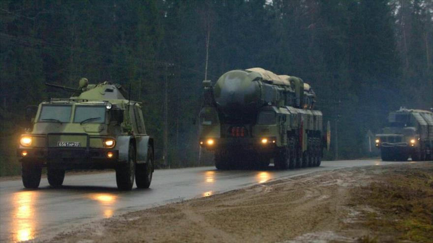 Sistema de misil balístico Topol, instalado en el oeste de Rusia.