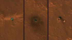 Vean la huella de la sonda InSight en la superficie de Marte