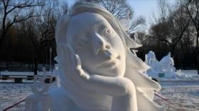 Así es el Festival de Esculturas de Nieve de Harbin en China