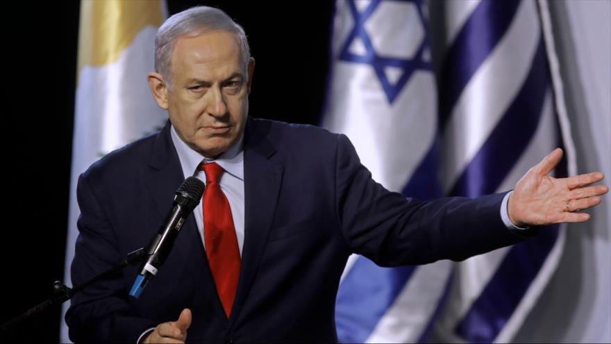 El premier israelí, Benjamín Netanyahu, ofrece discurso en una cumbre en la ciudad de Beersheva, 20 de diciembre de 2018. (Foto: AFP)