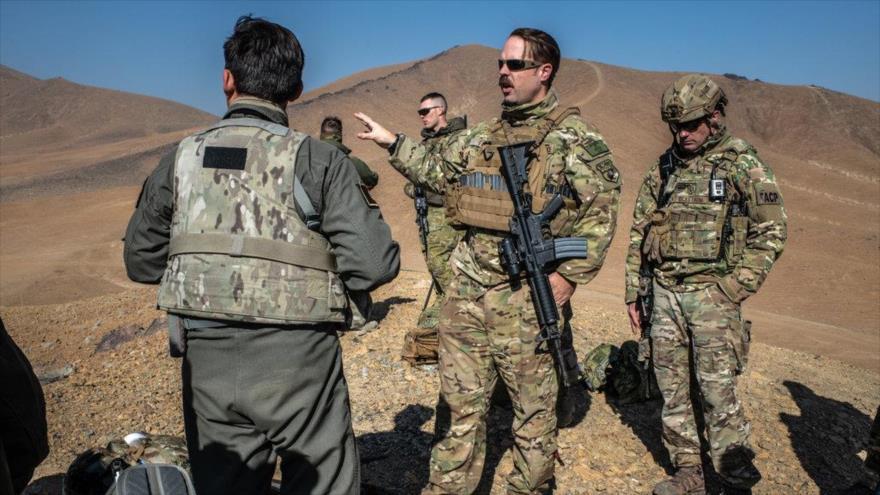 Personal de la Fuerza Aérea de EE.UU. en la provincia de Logar, oeste de Afganistán.