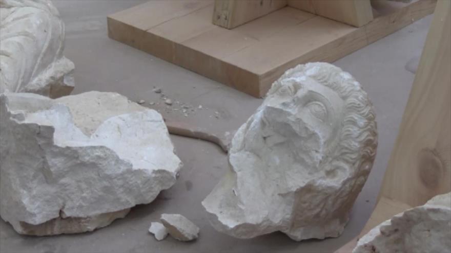 Especialistas intentan restaurar piezas arqueológicas en Siria