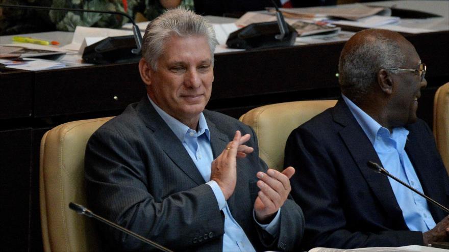 Presidente de Cuba, Miguel Díaz Canel, en 2ª sesión de la Asamblea Nacional del Poder Poular (ANPP), La Habana, Cuba, 21 de diciembre de 2018. (Foto: AFP)