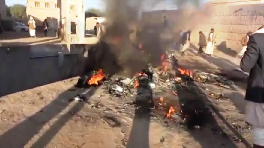 Vídeo: Fuerzas yemeníes derriban un dron de reconocimiento saudí