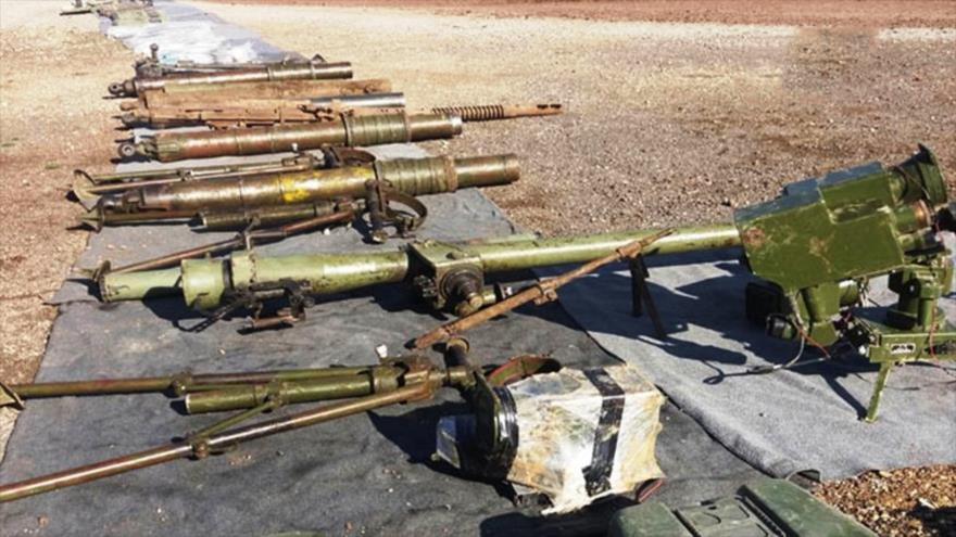 Vídeo: Siria incauta otra gran reserva de armas de EEUU e Israel