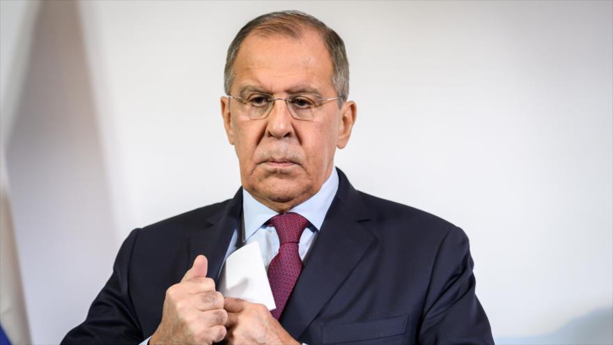 El canciller ruso, Serguéi Lavrov, en una conferencia sobre Afganistán en Ginebra, 28 de noviembre de 2018. (Foto: AFP)