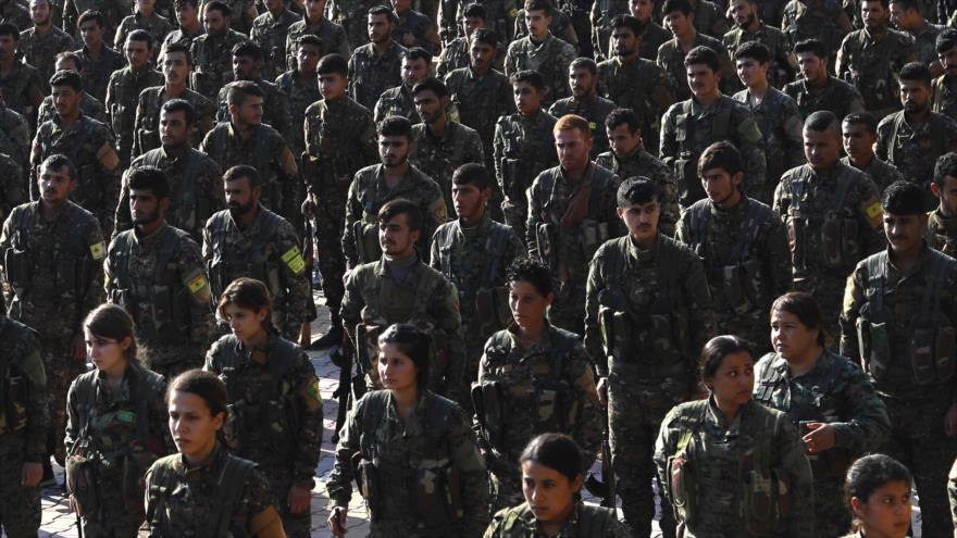 Las llamadas Fuerzas Democráticas Sirias (FDS) desplegadas en el norte de Siria, 11 de noviembre de 2018. (Foto: AFP)