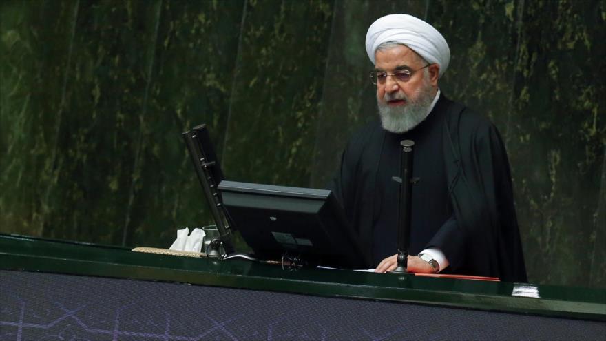 El presidente de Irán, Hasan Rohani, en el Parlamento iraní, Teherán, 25 de diciembre de 2018. (Foto: President.ir)