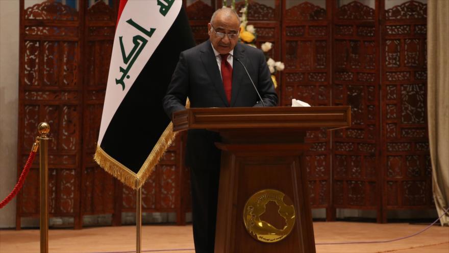 El primer ministro de Irak, Adel Abdul-Mahdi, ofrece un discurso en el Parlamento, 24 de octubre de 2018. (Foto: AFP)