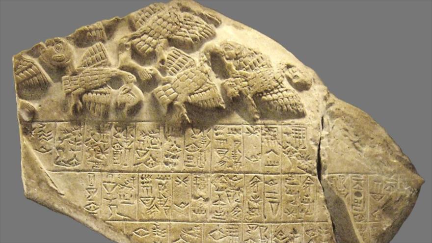 Estela sumeria de los buitres, que data del 2500 a.C.