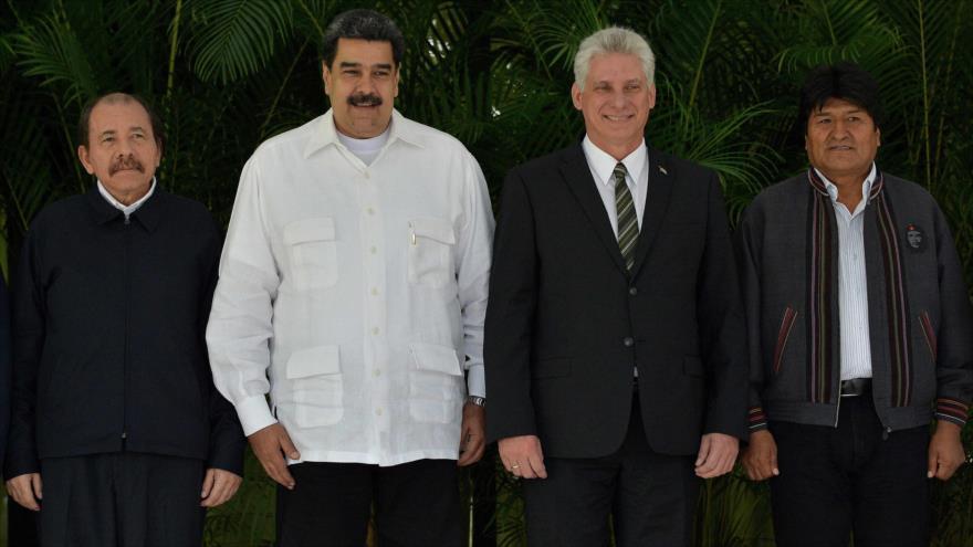 (De izq. a dcha.) Los presidentes de Nicaragua, Venezuela, Cuba y Bolivia en la Cumbre de la ALBA, en La Habana, 14 de diciembre de 2018. (Foto: AFP)