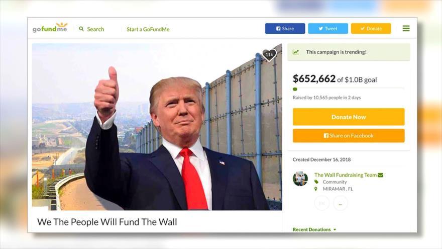 Simpatizantes de Trump recaudan millones para muro con México
