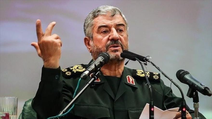El comandante en jefe del CGRI de Irán, el general de división Mohamad Ali Yafari.