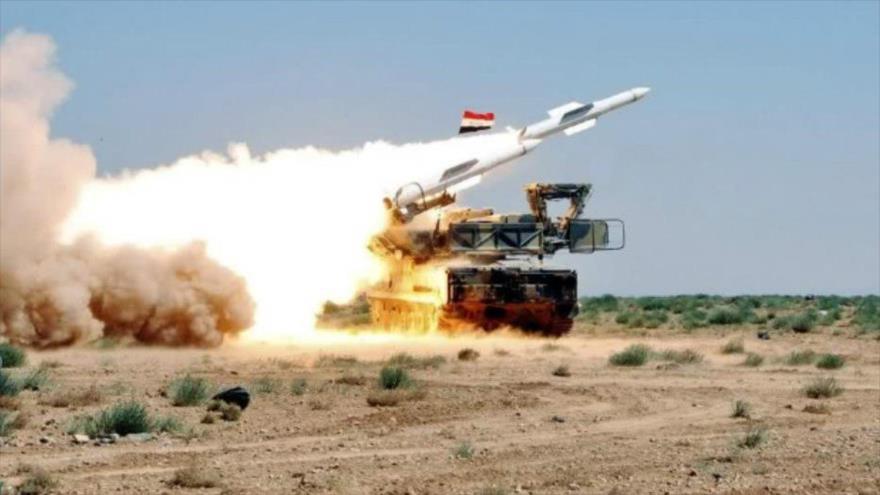 Un misil sirio S-200 de producción soviética.