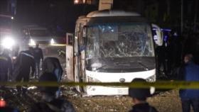 Ataque a autobús turístico deja 2 muertos y 12 heridos en Egipto