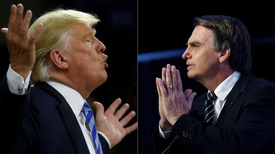 El presidente de EE.UU., Donald Trump (izq.), y el mandatario electo de Brasil, Jair Bolsonaro.