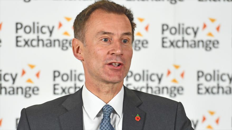 El secretario de Asuntos Exteriores del Reino Unido, Jeremy Hunt, pronuncia un discurso en un acto en Londres, 31 de octubre de 2018. (Foto: AFP)