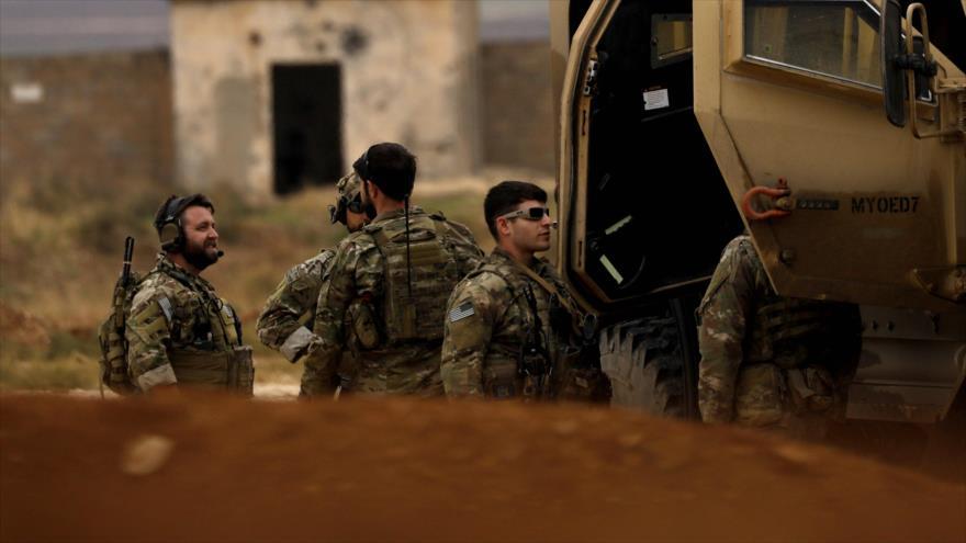 Las fuerzas estadounidenses desplegadas en las zonas norteñas de Siria, 4 de noviembre de 2018. (Foto: AFP)