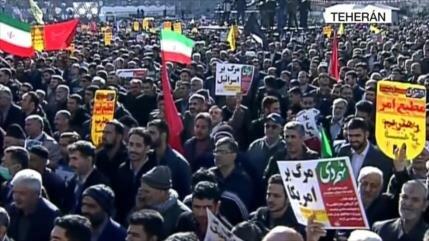 Los iraníes salen a las calles para recordar Epopeya del 9 de dey