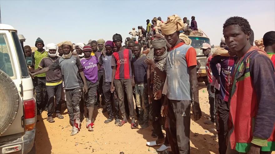 Mineros de oro en la región de Tibesti, en el norte de Chad.