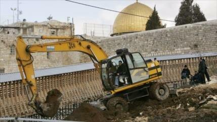 Palestina denuncia excavaciones israelíes debajo de Al-Aqsa