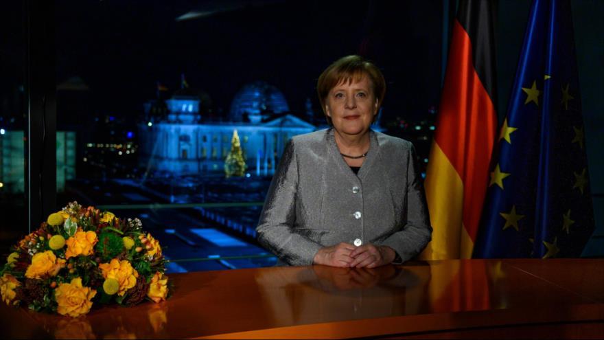 Merkel invita al mundo a resolver el cambio climático, migración y terrorismo