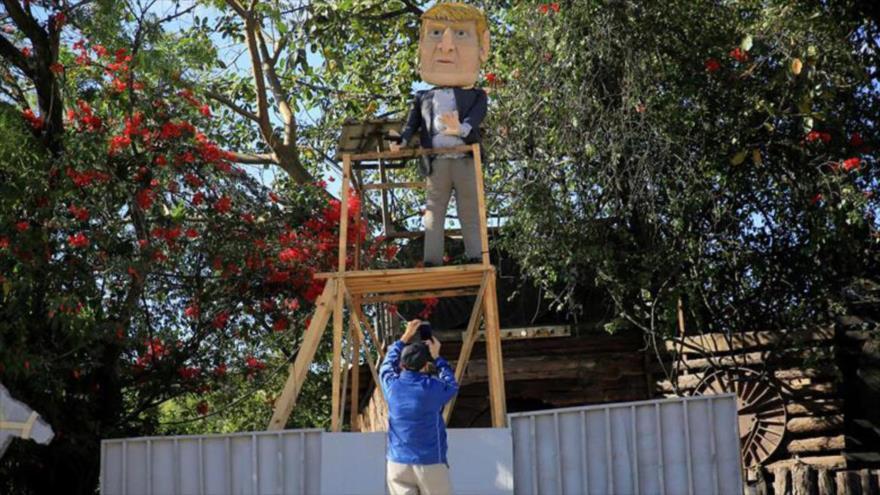 Esta Nochevieja los hondureños prenderán fuego a muñeco de Trump