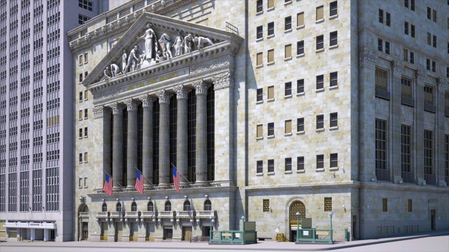 El edificio de la Bolsa de Nueva York (EE.UU.). Ésta forma parte de los mayores mercados de valores del mundo.
