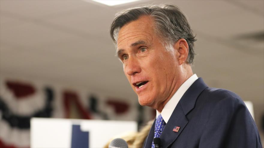 Excandidato presidencial, Mitt Romney, en acto de campaña tras ganar un puesto en el Senado, en Orem, Utah, EE.UU., 6 de noviembre de 2018. (Foto: AFP)