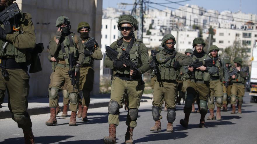 Fuerzas del régimen de Israel en la ocupada Cisjordania, 15 de diciembre de 2018. (Foto: AFP)