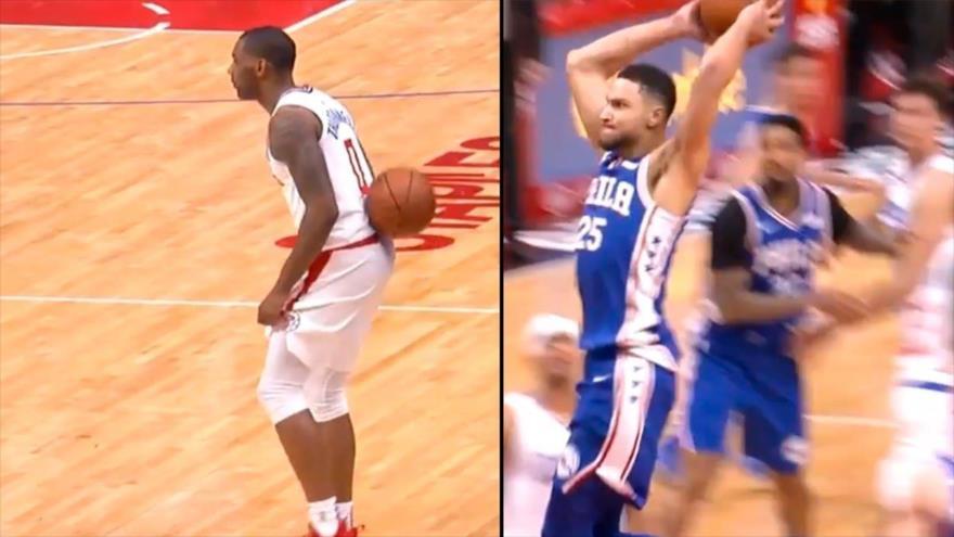 Jugador de NBA ridiculiza a un rival antes de anotar una canasta
