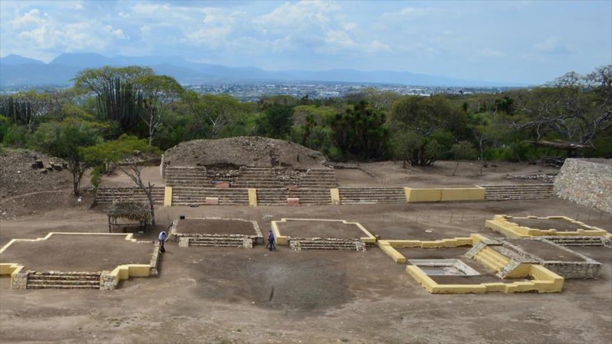 El primer templo dedicado a Xipe Tótec en la Zona Arqueológica de Ndachjian–Tehuacán, en el estado mexicano de Puebla. (Foto: INAH)