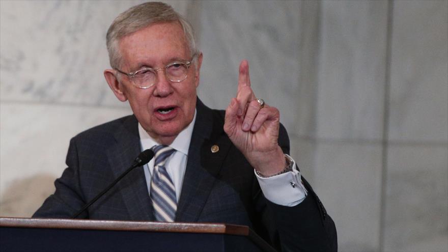 El exlíder del Partido Demócrata en el Senado estadounidense, Harry Reid.