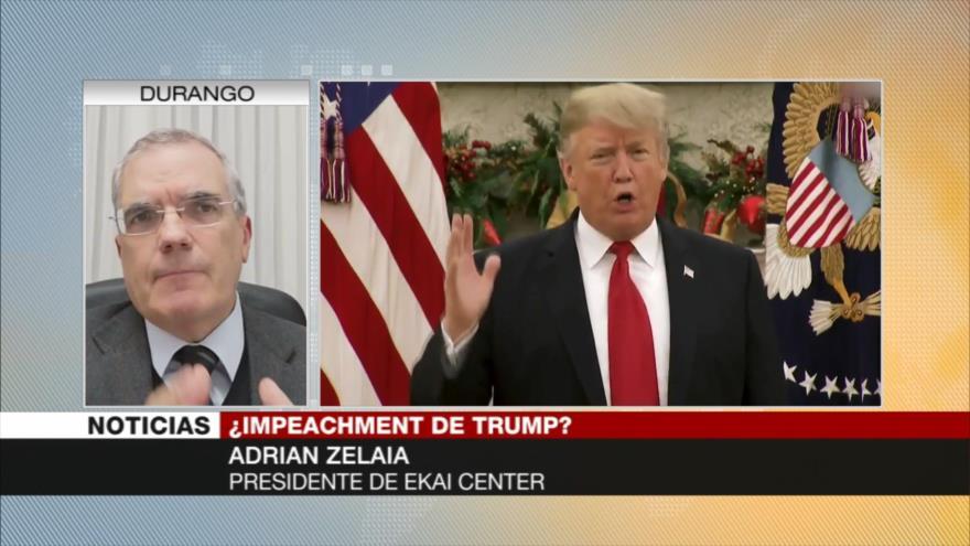 Zelaia: Impeachment contra Trump desatará guerra civil política