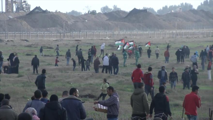 Otra jornada de protesta en Gaza denuncia la normalización con Israel