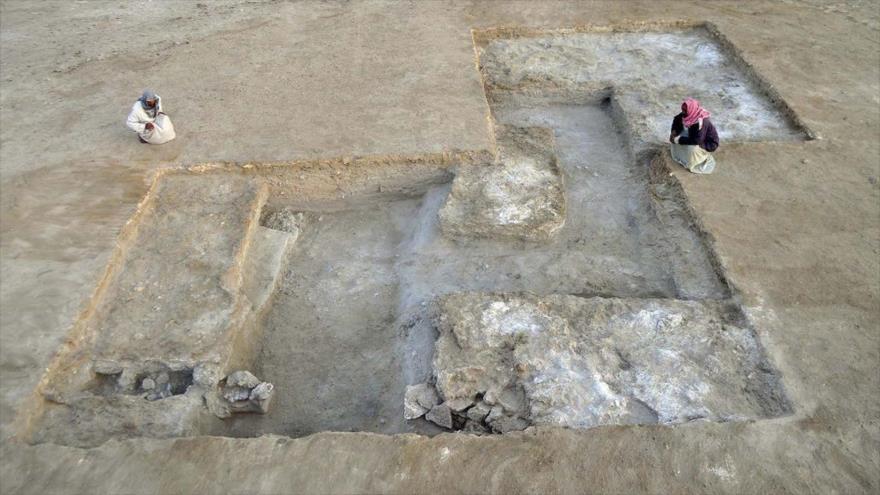 Restos de la fortaleza helenística encontrada en Egipto.