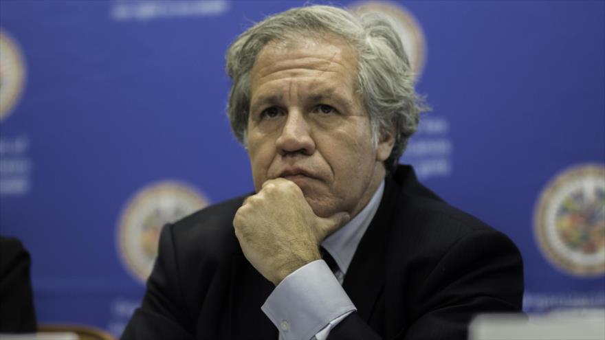 El secretario general de la Organización de Estados Americanos (OEA), Luis Almagro, participa en una reunión del organismo.