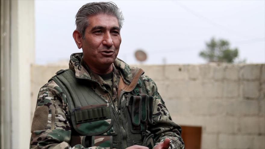 Redur Jalil, un comandante de las kurdo-sirias Fuerzas Democráticas Sirias (FDS), fotografiado el 4 de enero de 2019. (Foto: AFP)