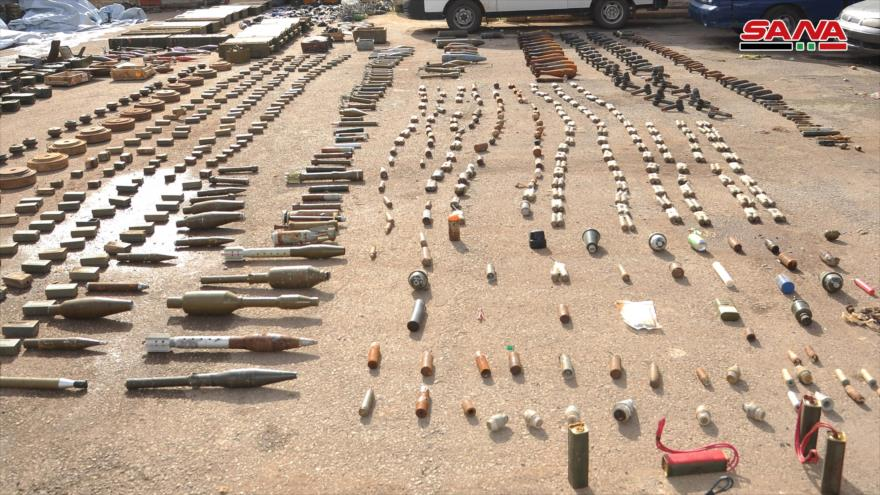 Siria incauta armas israelíes dejadas por terroristas en Daraa
