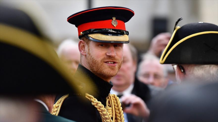 El príncipe Harry se reúne con veteranos de guerra en Londres, capital británica, 8 de noviembre de 2018. (Foto: AFP)