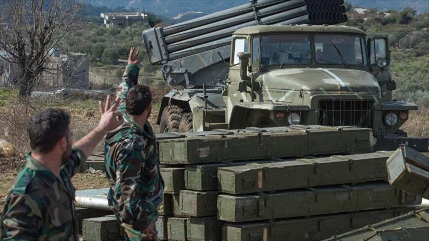 Soldados sirios en la provincia noroccidental de Idlib.