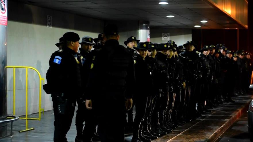 Despliegue policial sin precedentes por un investigador de CICIG