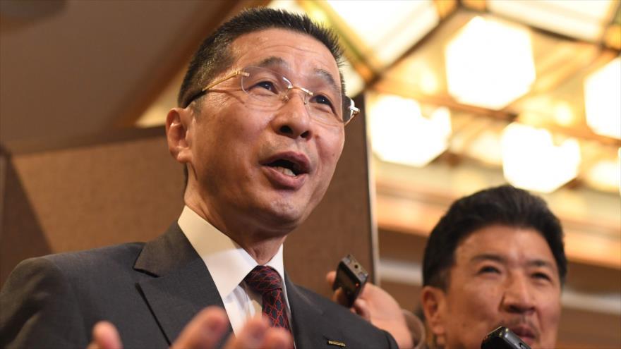 Hiroto Saikawa, actual ejecutivo de Nissan, habla con la prensa en Tokio, capital nipona, 7 de enero de 2019. (Foto: AFP)