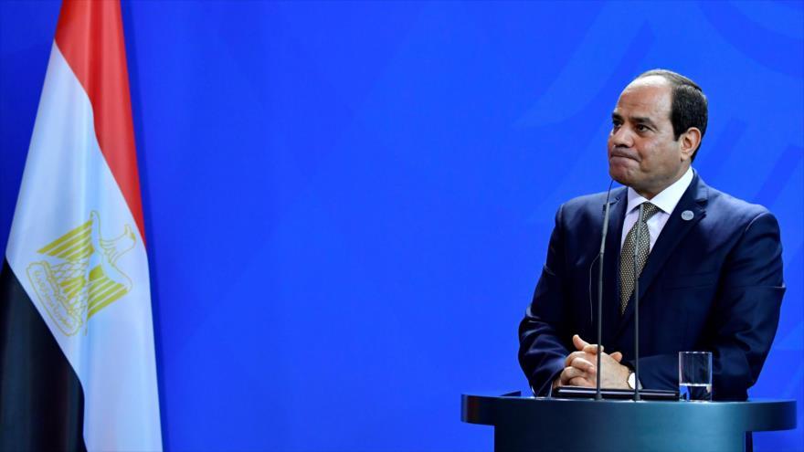 El presidente de Egipto, Abdel Fatah al-Sisi, en una conferencia en Berlín, 30 de octubre de 2018. (Foto: AFP)