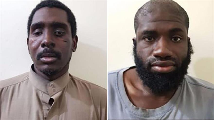 Zaid Abed al-Hamid (izda.) y Warren Christopher Clark, dos estadounidenses miembros del grupo terrorista EIIL (Daesh, en árabe).