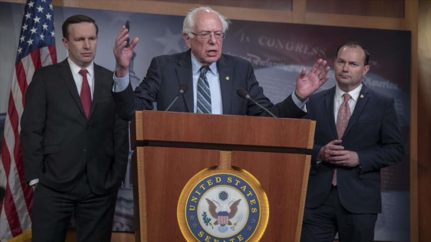 El senador Bernie Sanders durante un discurso en Washington, 13 de diciembre de 2018. (Foto: AFP)