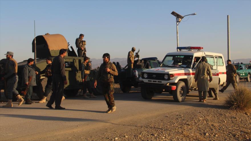 Fuerzas de seguridad afganas en la provincia oriental de Jost, 23 de noviembre de 2018. (Foto: AFP)