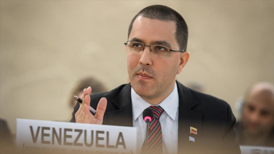 Jorge Arreaza, canciller de Venezuela, en la 39.ª sesión del Consejo de Derechos Humanos de la ONU en Ginebra, 11 de septiembre de 2018. (Foto: AFP)
