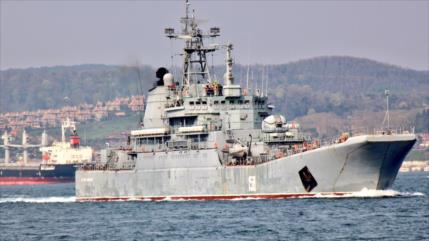 Buque ruso zarpa hacia Siria para apoyar la lucha antiterrorista